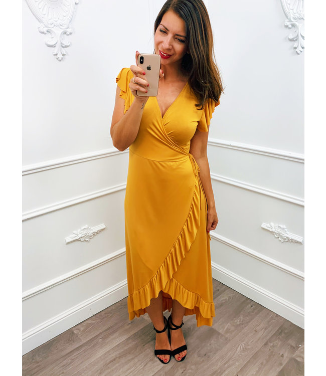 Romantic Travel Dress Oker