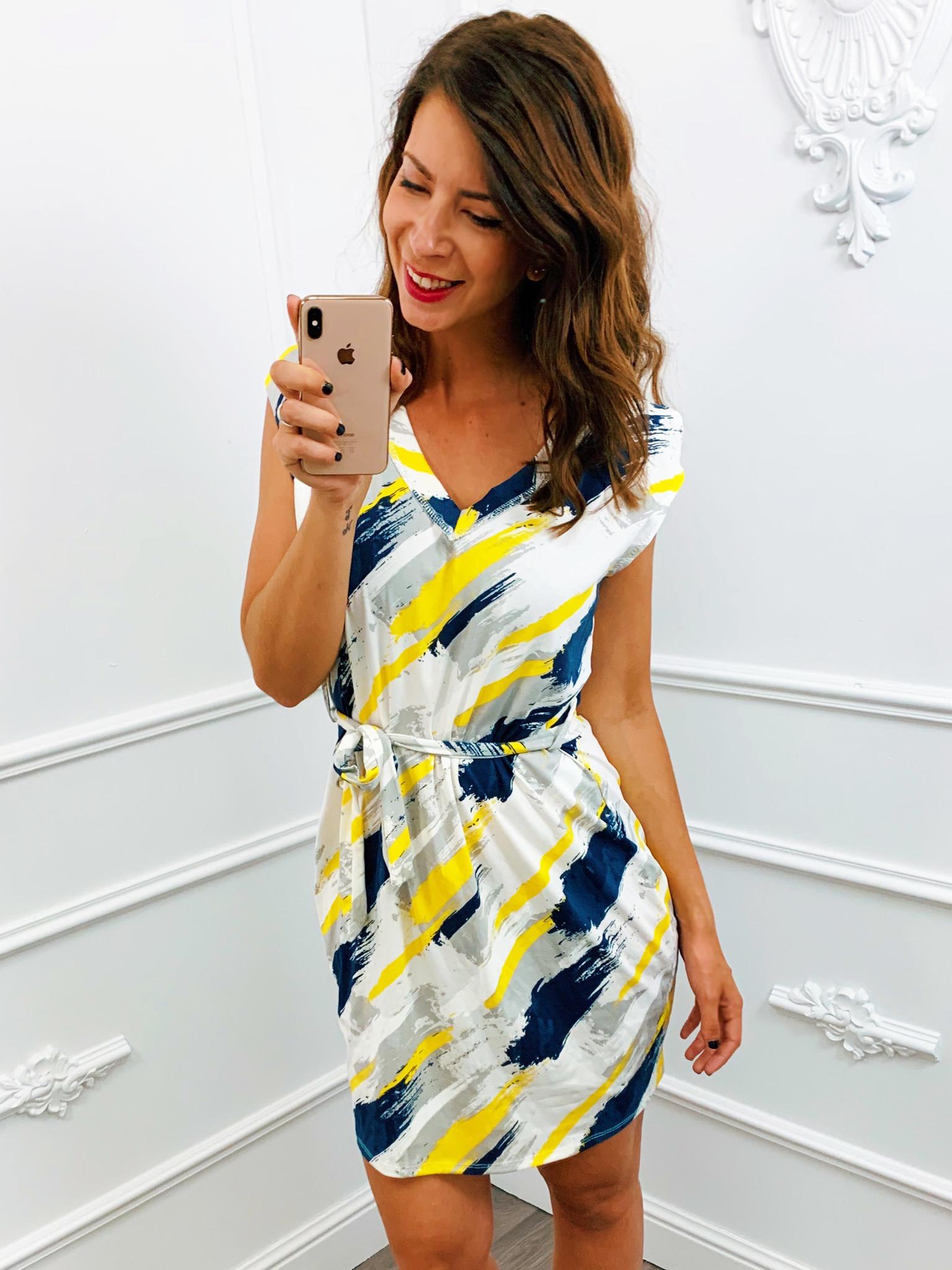 Brush Stroke Dress Colour