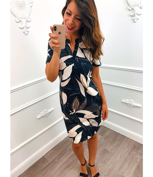 Loose Leaf Dress Zwart