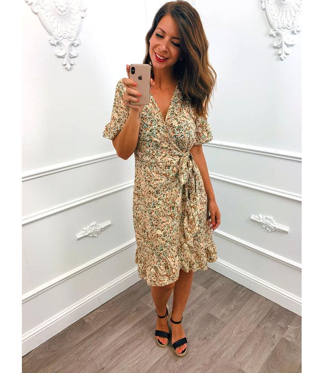 Perfect Flower Dress Beige