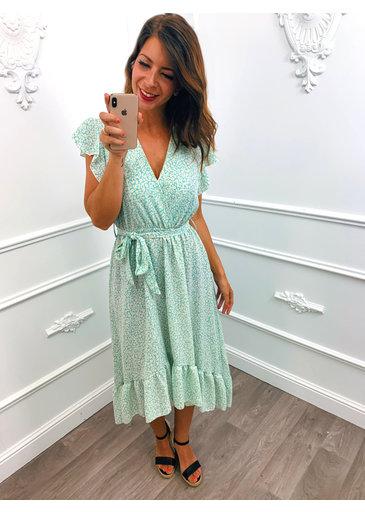 Little Flower Dress Mint