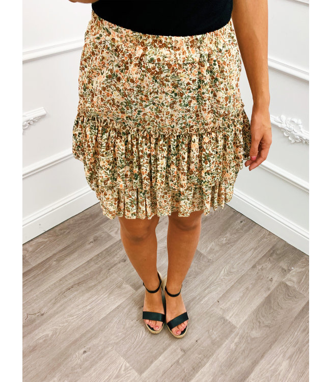 Perfect Flower Skirt Beige