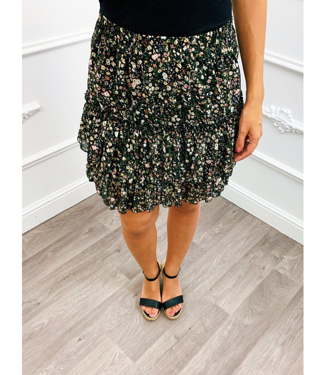 Perfect Flower Skirt Black
