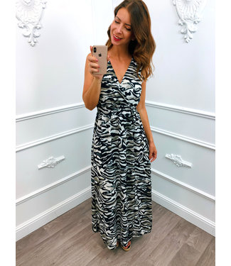 Camouflage Zebra Maxi Dress