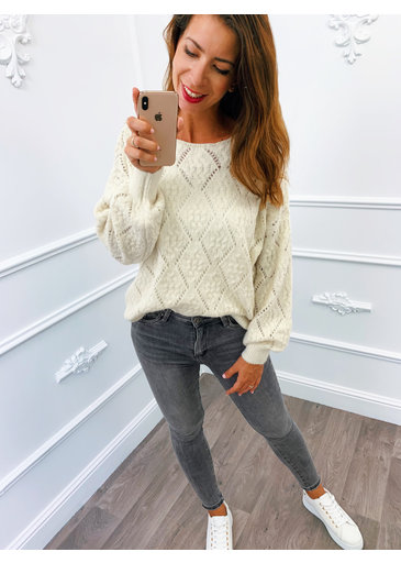 Perfect Knitted Sweater Creme