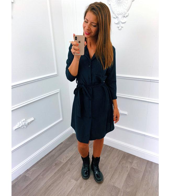 Travel Blouse Dress Zwart