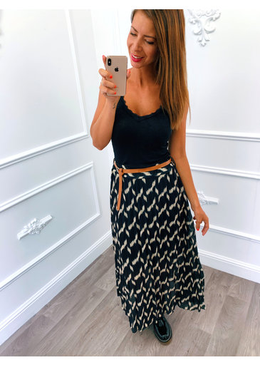 Skirt Black Camel