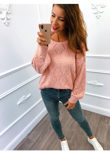 Perfect Knitted Sweater Roze