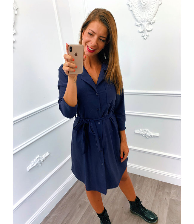 Travel Blouse Dress Blauw