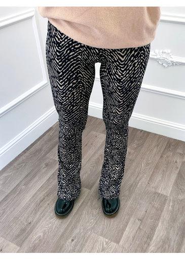 Zebra Flared Pants