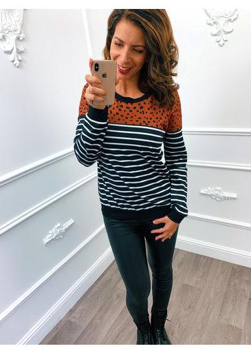 Cheetah Sweater Terracotta