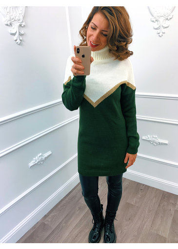 Golden Line Dress Groen
