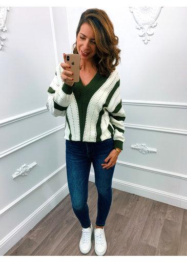 Stripes Sweater Groen