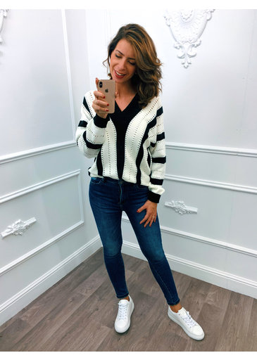 Stripes Sweater Zwart