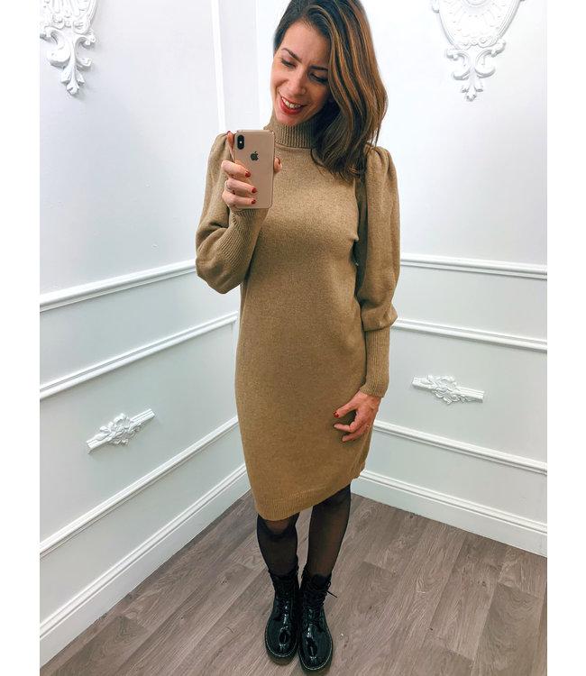 Pofmouw Col Dress Camel