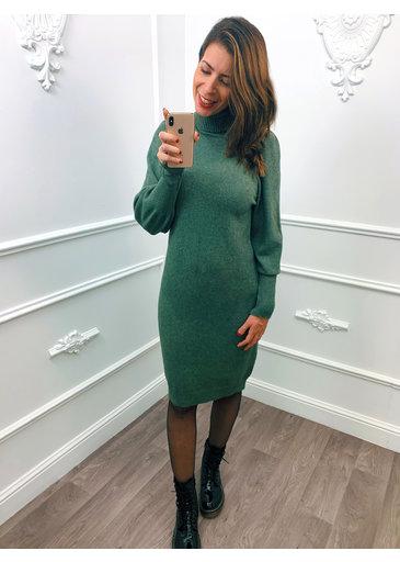 Pofmouw Col Dress Groen