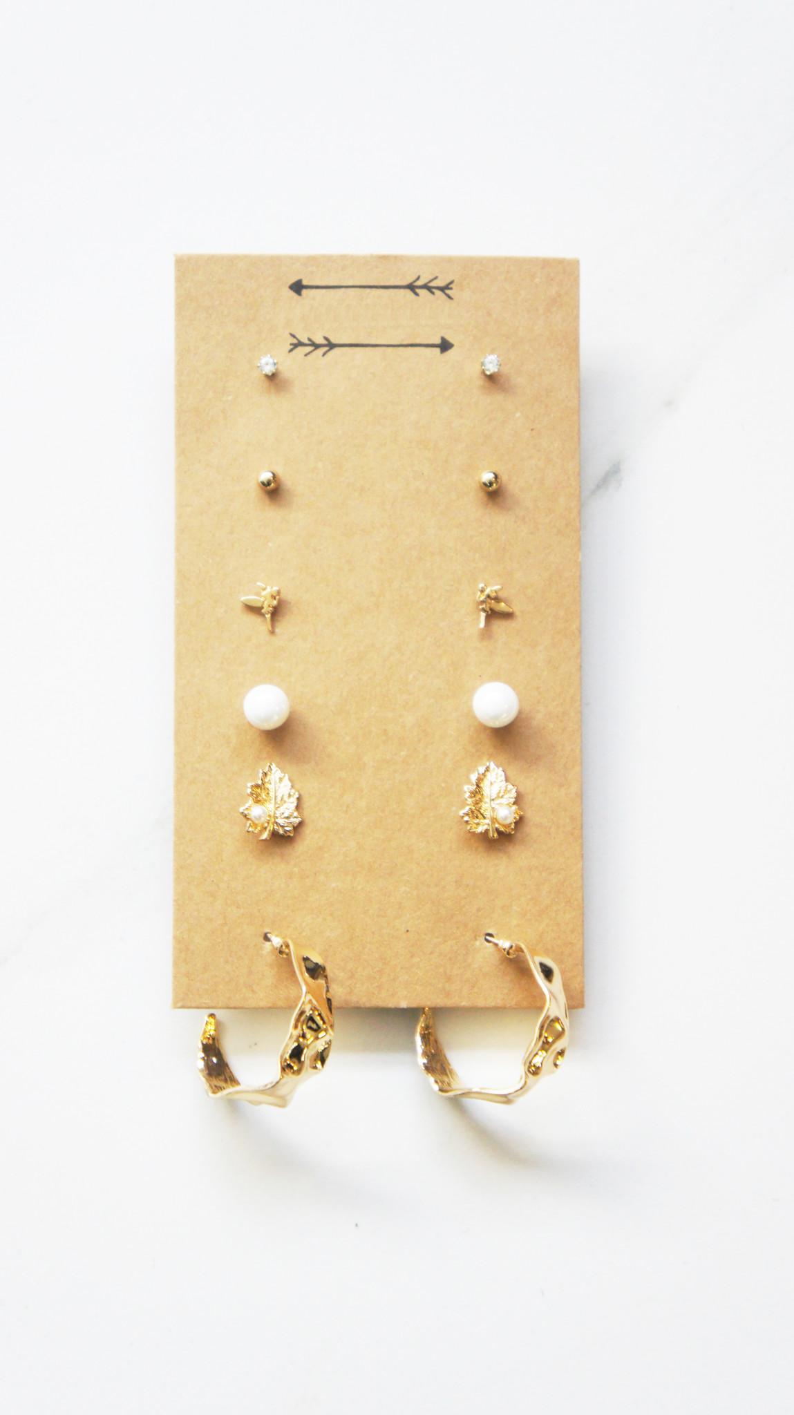 Set Earrings Gold