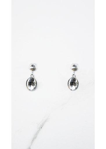 Crystal Earrings Silver
