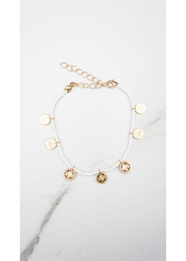 White Coins Bracelet