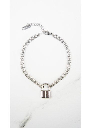 Lock Bracelet Silver