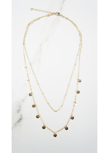 Subtle Coin Necklace Gold