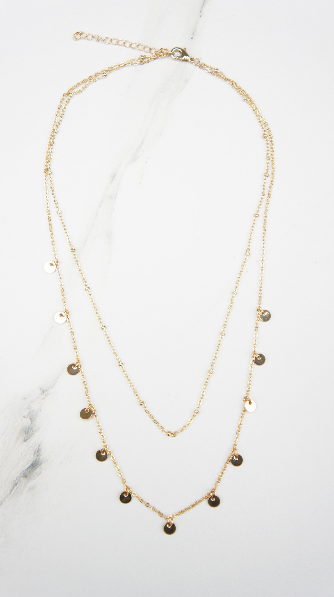 Subtle Coin Necklace Gold