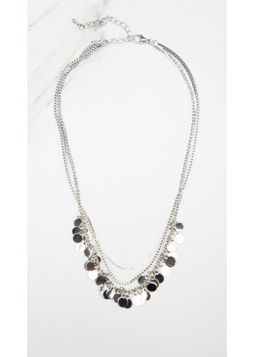Necklace Small Coins Silver