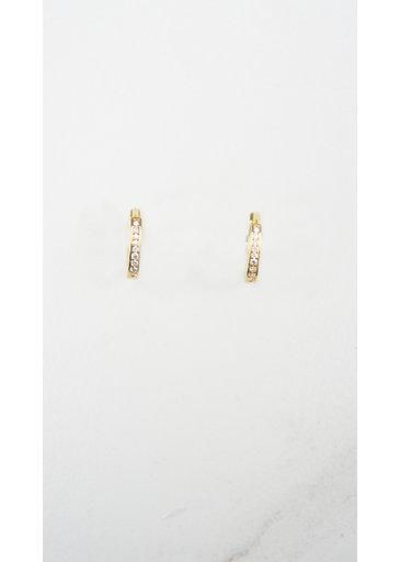 Zirconia Ring Gold Earrings