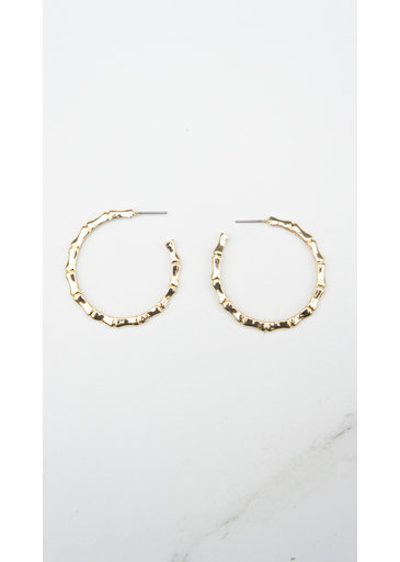 Creoles Ring Gold Earrings