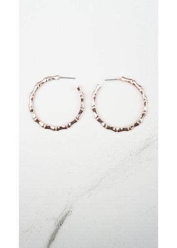 Creoles Ring Rose Earrings