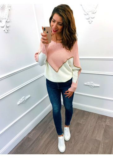 Golden Line Sweater Roze