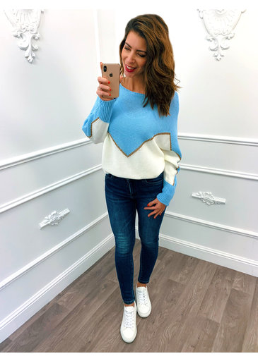 Golden Line Sweater Blauw