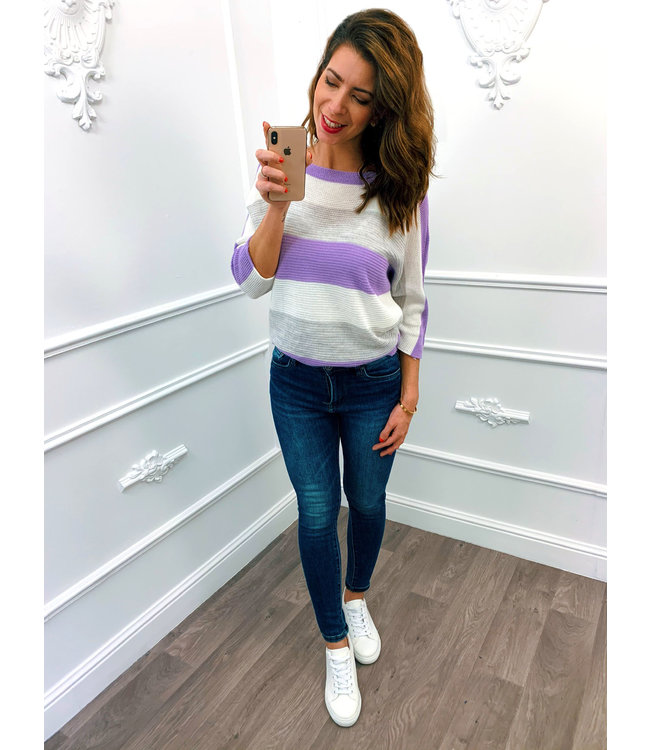 Strook Sweater Lila