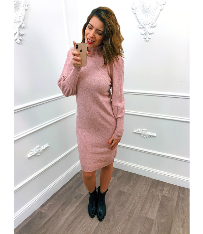 Pofmouw Col Dress Roze