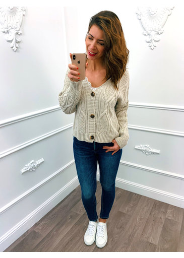 Knitted Vest Beige