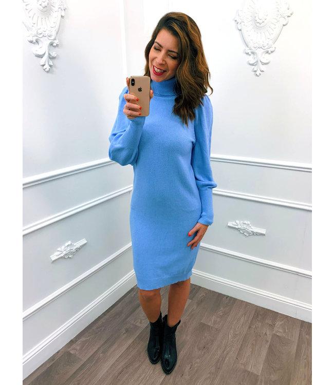 Pofmouw Col Dress Blauw