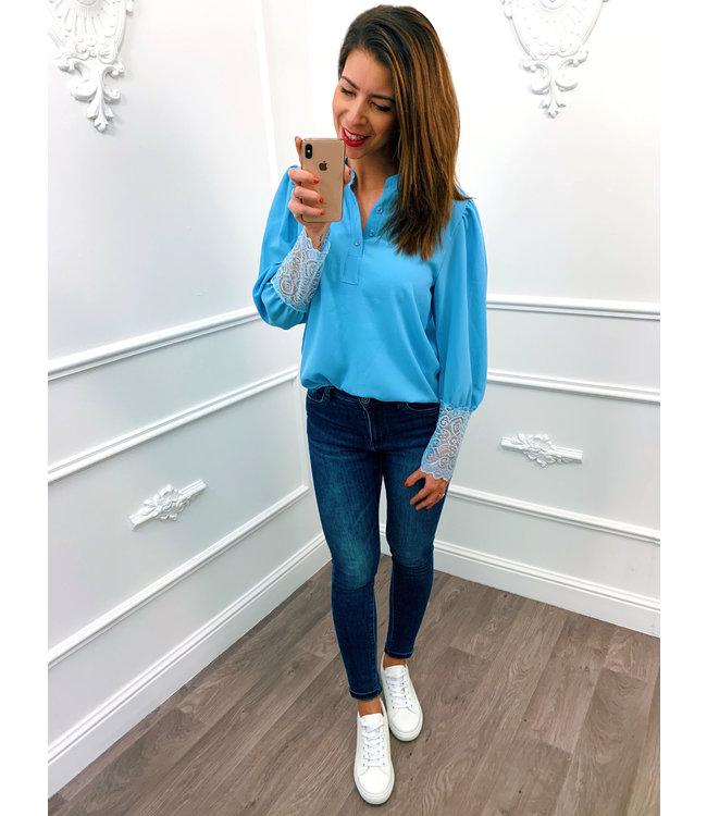 Blouse Elegant Blauw