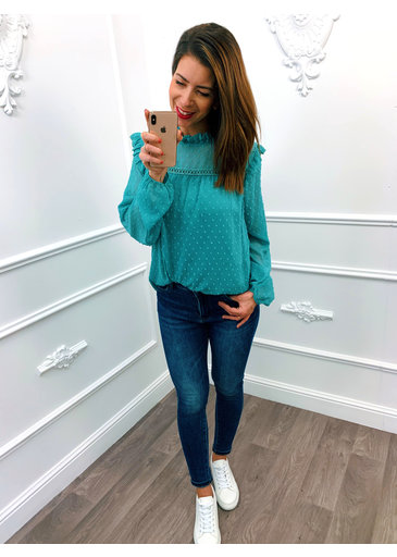 Pretty Blouse Mint Groen