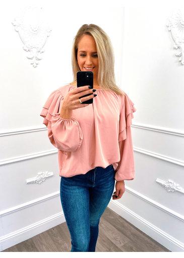 Laagjes Blouse Roze
