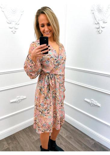 Overslag Flower Dress Roze