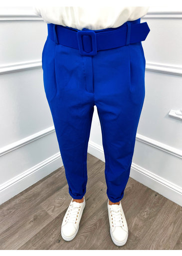 Pantalon Baggy Bleu Cobalt