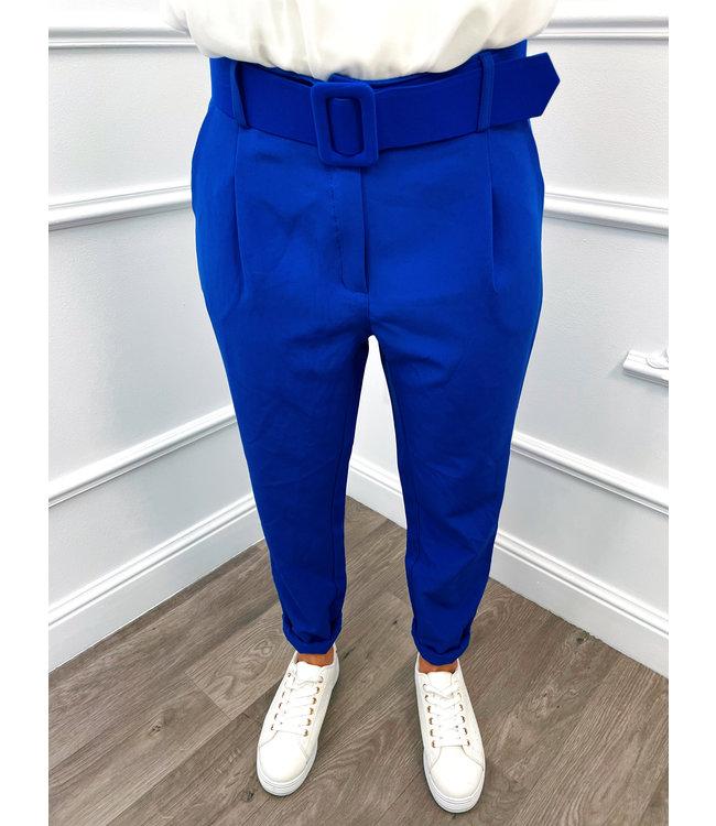 Broek Baggy Kobalt Blauw
