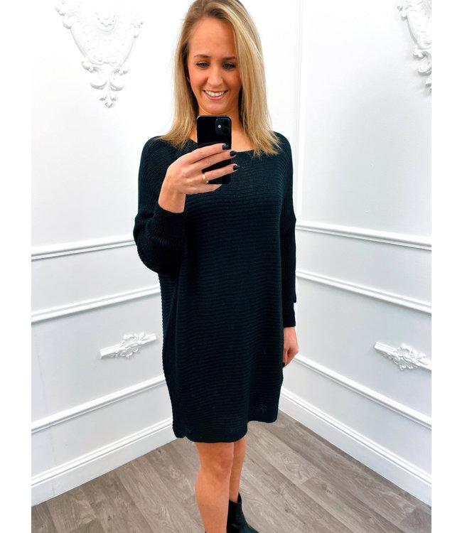 Sweater Dress Zwart