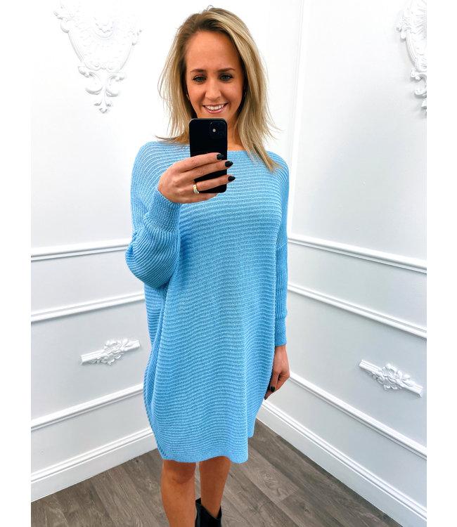 Sweater Dress Blauw