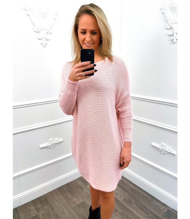 Sweater Dress Roze