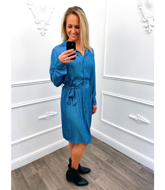 Denim Blouse Dress