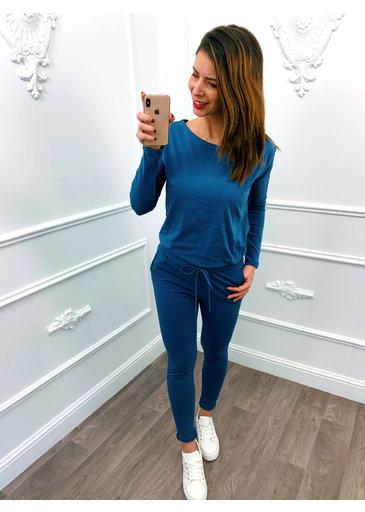 Comfy Jumpsuit Jeans Blauw