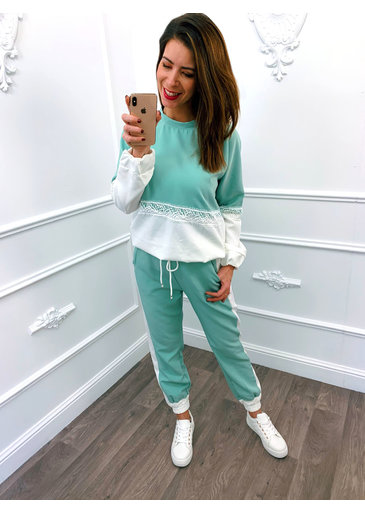 Jogging Suit Mint Groen