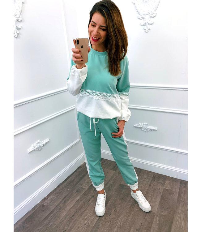 Jogging Suit Mint Groen