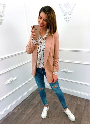 Basic Blazer Roze